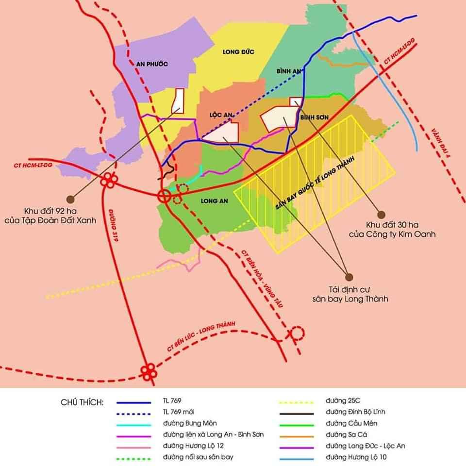 Vị trí Dự án đất nên khu đô thị Gem Sky World Đất Xanh Long Thành Đồng Nai